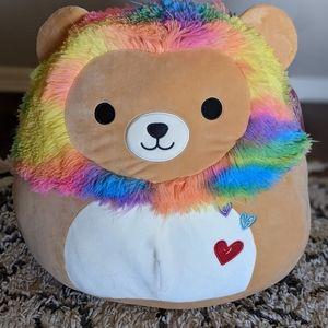 """Squishmallow XL 16"""" Valentine's Day Lion Leonard"""